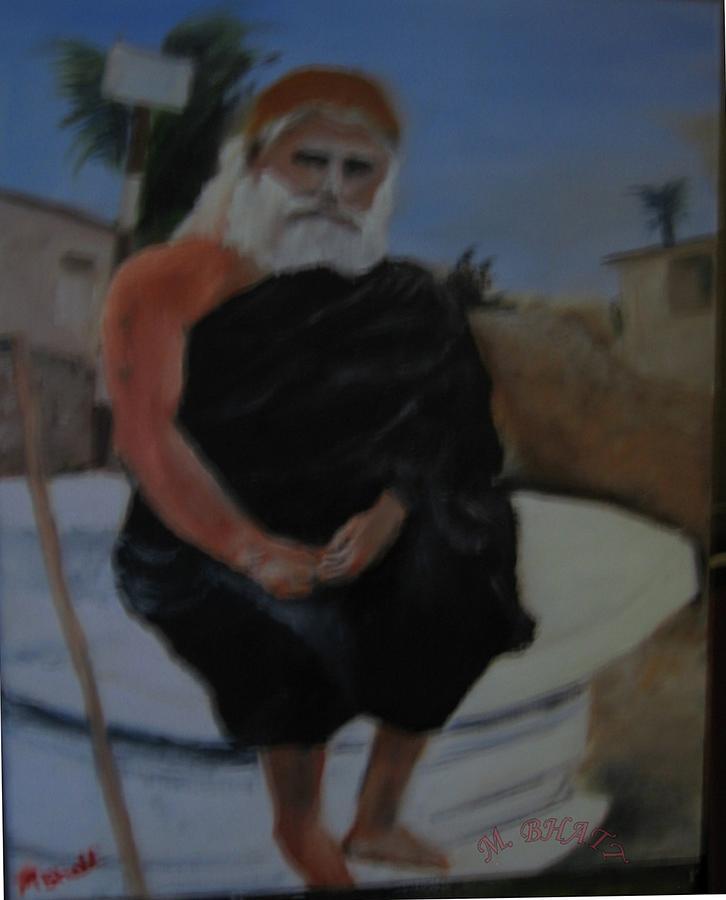 Pujya Bapji Painting by M Bhatt