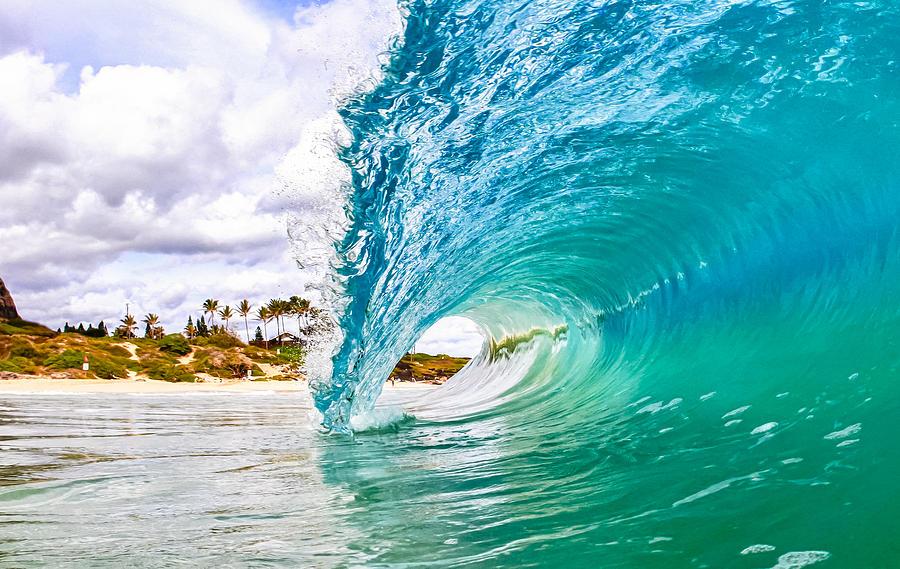 Surf Photograph - Puka by Gregg  Daniels