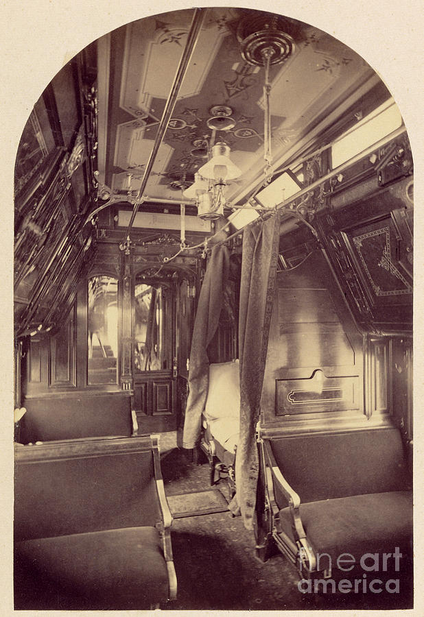 Pullman Photograph - Pullman Palace Sleeping Car 1870 by Getty Research Institute
