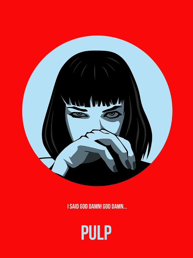 Pulp Fiction Digital Art - Pulp Fiction Poster 3 by Naxart Studio