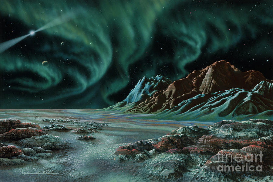 Lynette Cook Painting - Pulsar Planets I by Lynette Cook