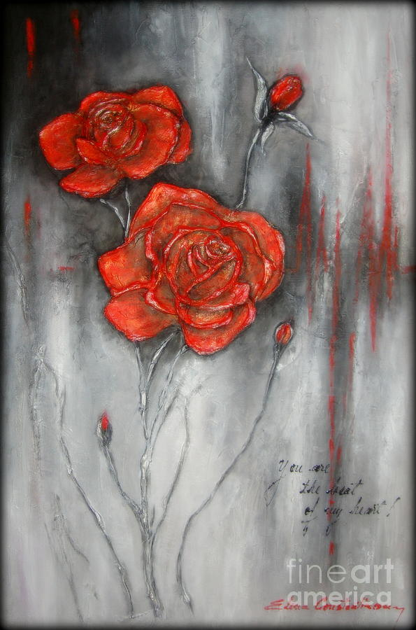 Roses Painting - Pulse.... by Elena  Constantinescu