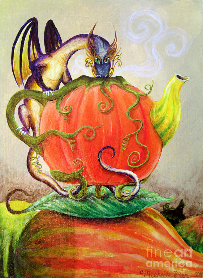 Pumpkin Tea Dragon by Michelle Bien
