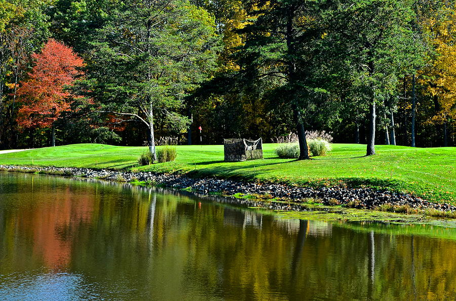Golf Photograph - Punderson Golf Course by Frozen in Time Fine Art Photography