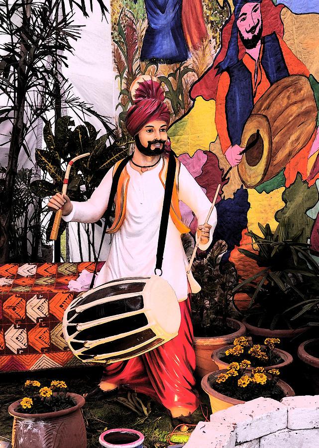 Music Digital Art - Punjabi Dhol by Bliss Of Art