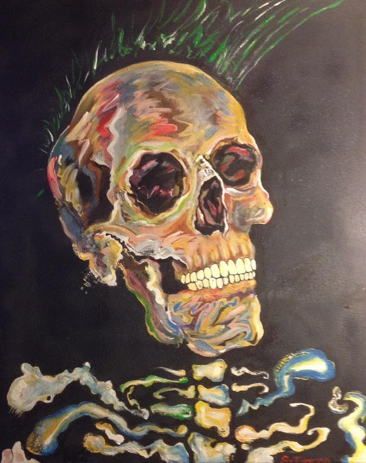 Punk Painting - Punk Is Not Dead by Erik Franco