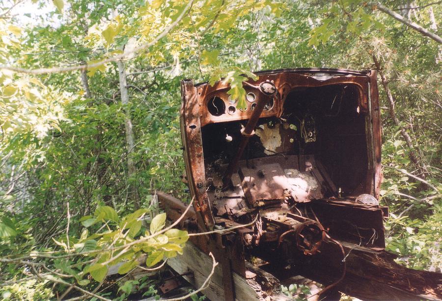 Abandoned Photograph - Punkhorn Car by David Fiske