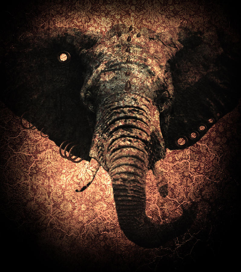 Elephant Digital Art - Punkphant by Elena Mussi