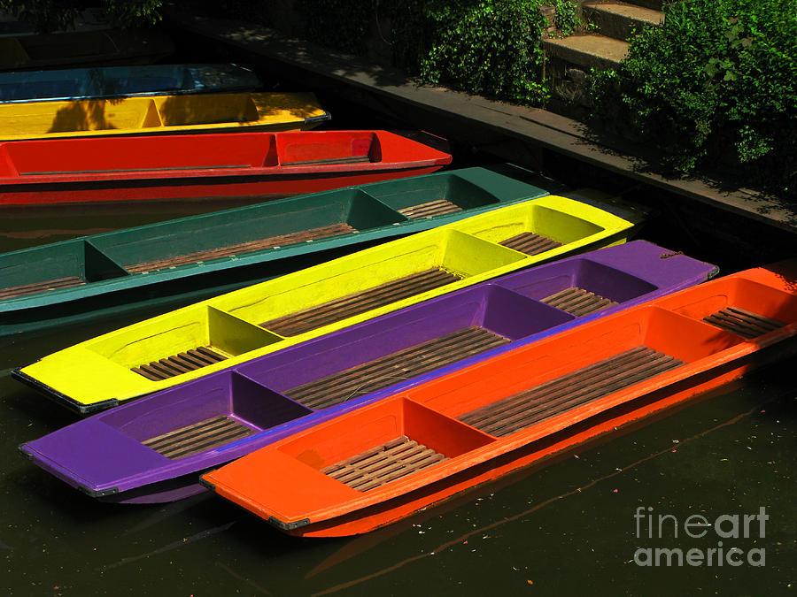 Punts Photograph - Punts For Hire by Ann Horn