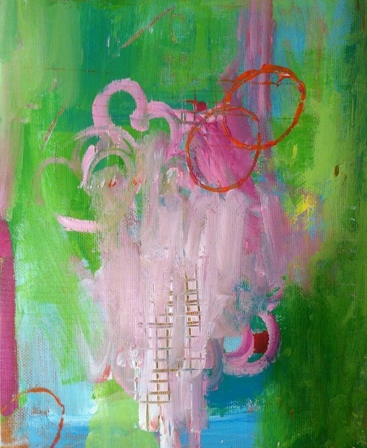 Pink Painting - Puppet On A String by Deborah Burow