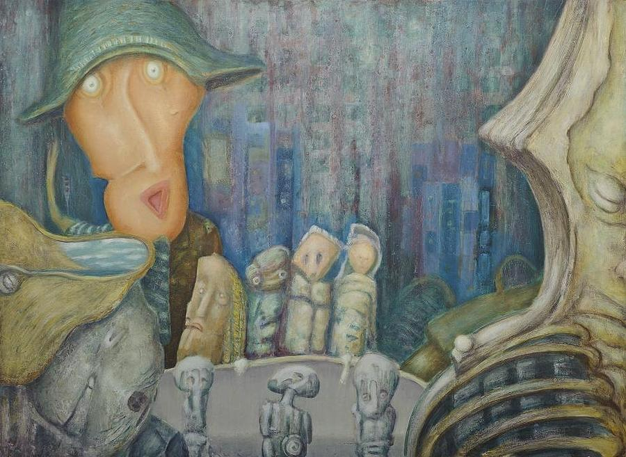 Painting - Puppet Theatre by Slobodan Loncarevic
