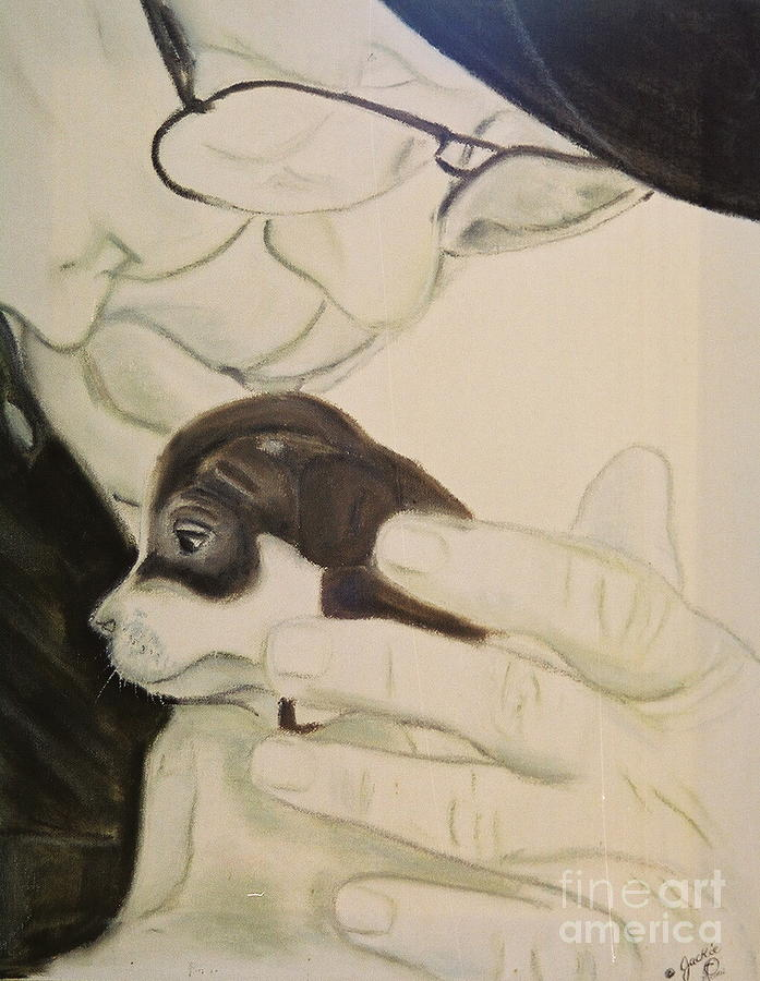 Animals Painting - Puppy Love by JackieO Kelley