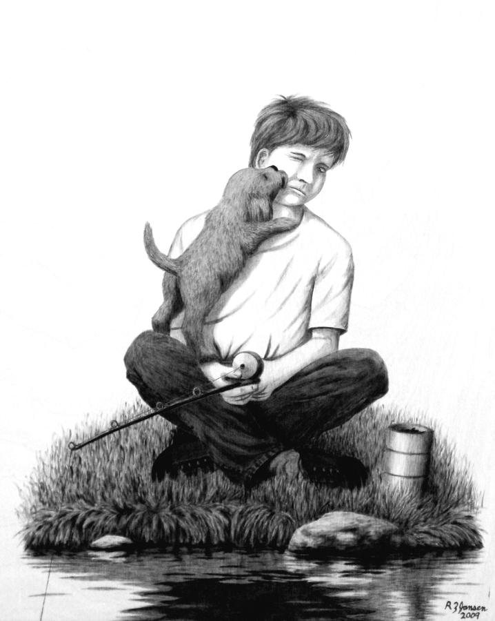 Puppy Pyrography - Puppy Love by Roger Jansen