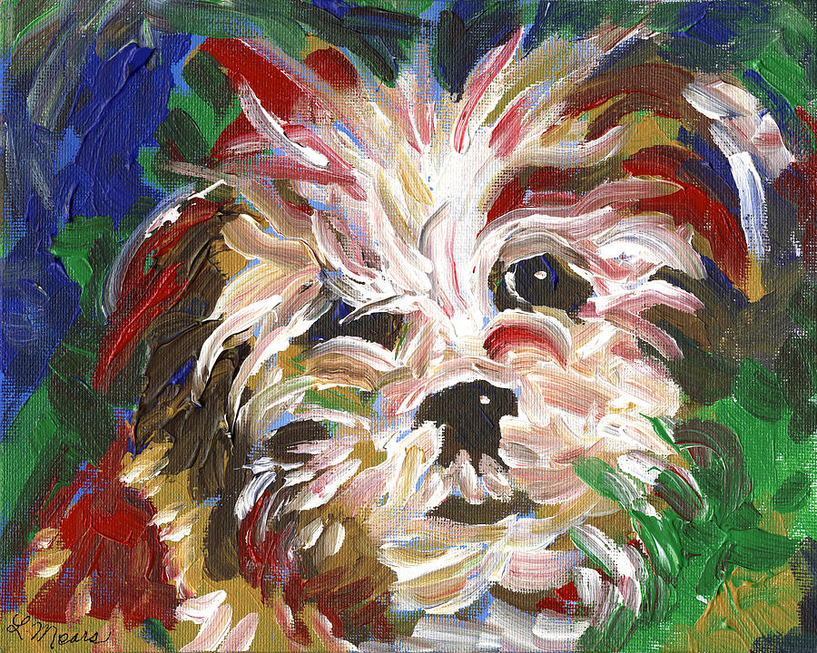 Puppy Painting - Puppy Spirit 101 by Linda Mears