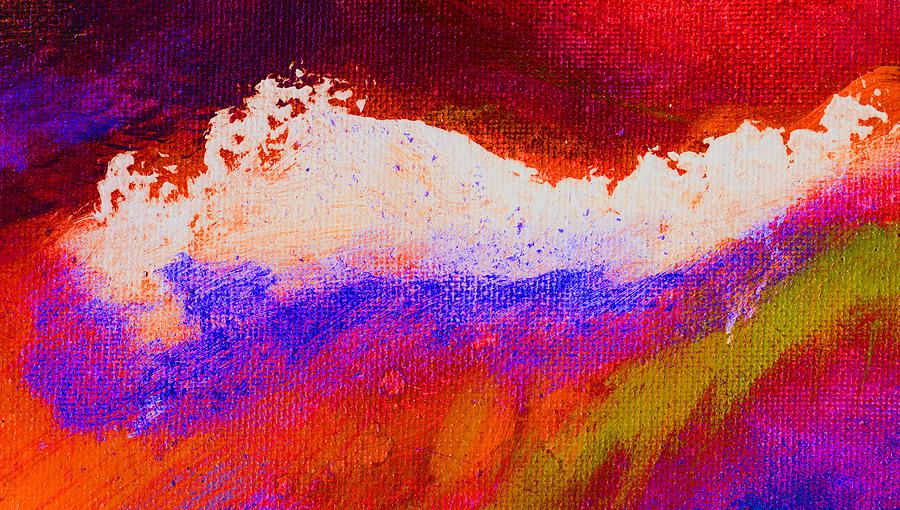Abstract Painting - Pura Golden by L J Smith