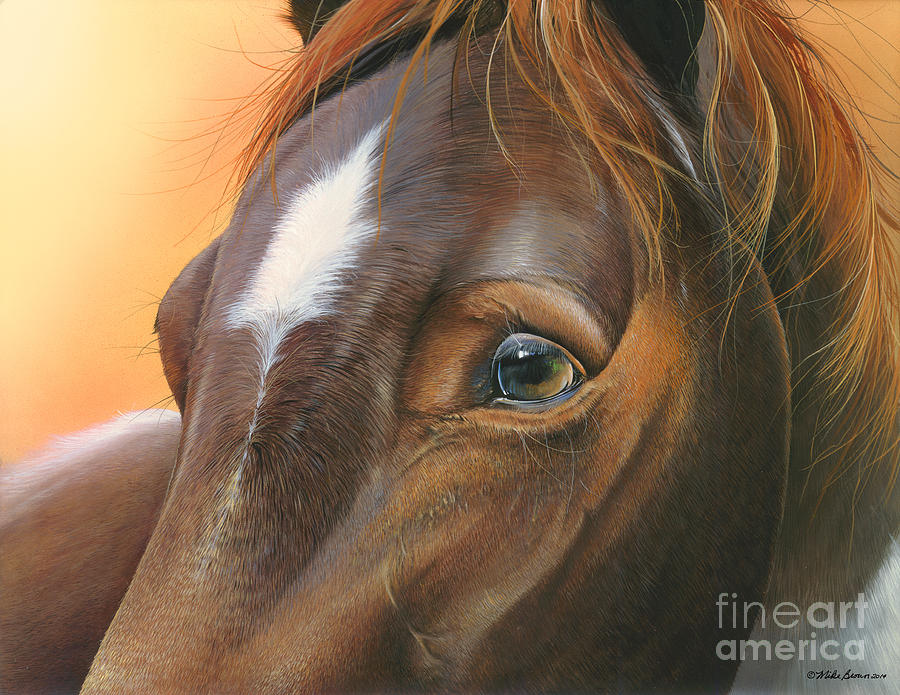 Horse Painting - Pure Grace by Mike Brown