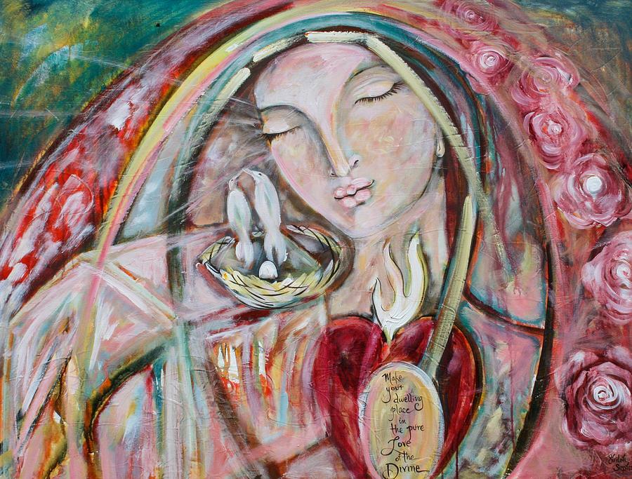 Shiloh Sophia Painting - Pure Love of the Divine by Shiloh Sophia McCloud