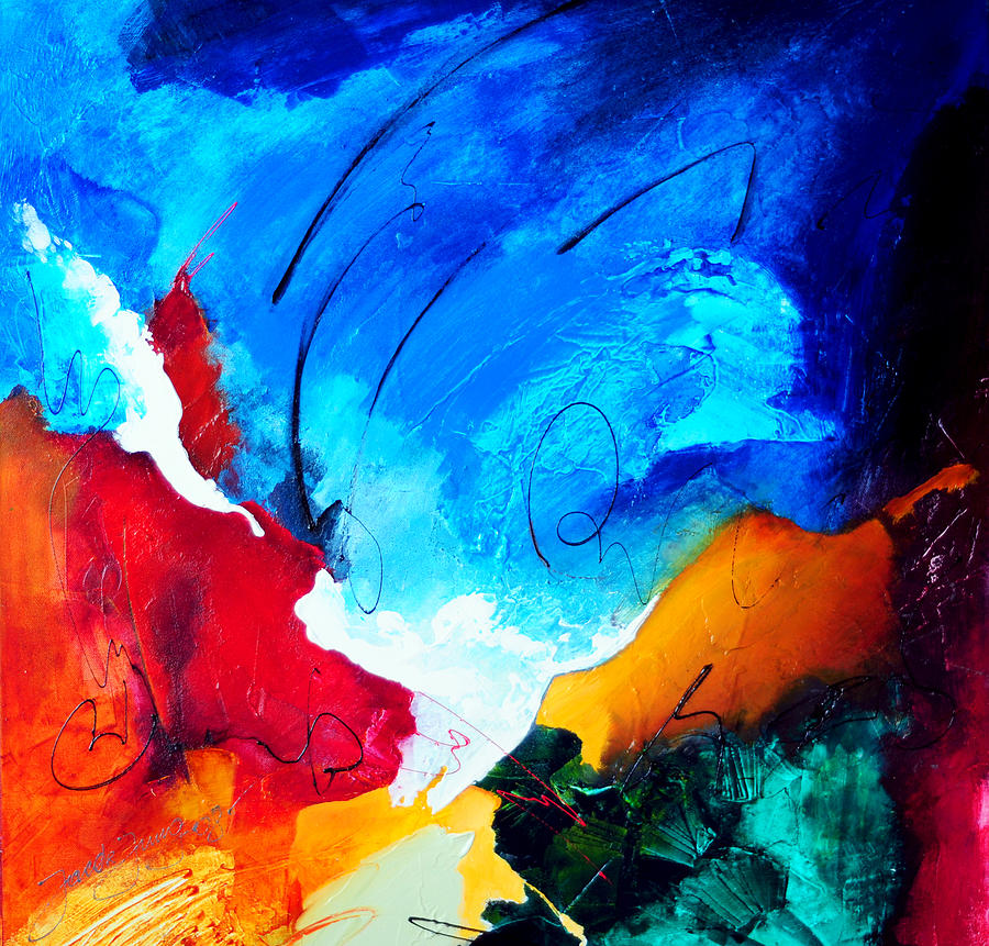 Abstract Painting - Purity Of Joy by Jacek  Ungierat - Jung