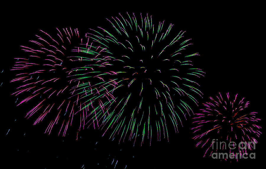 Fireworks Photograph - Purp by Christopher Biggers