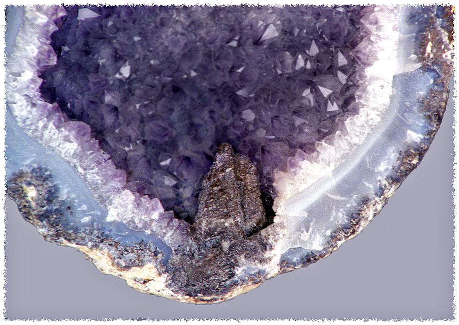 Amethyst Geode Photograph - Purple Amethyst Geode by Lonnie Paulson