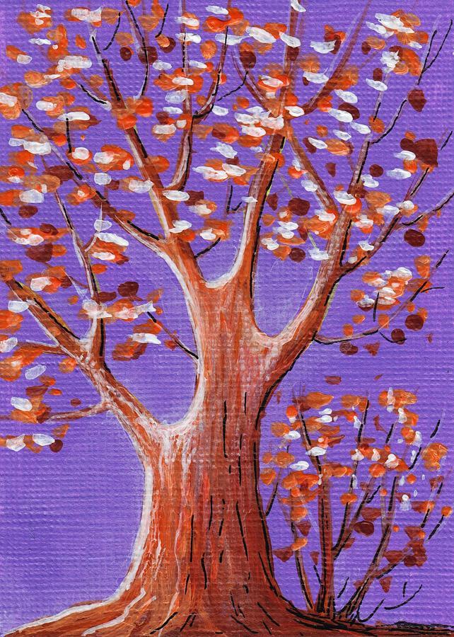 Gift Painting - Purple And Orange by Anastasiya Malakhova