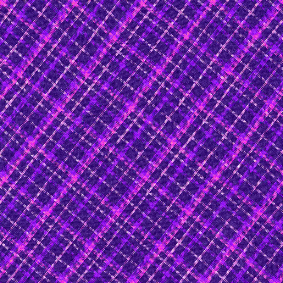Purple And Pink Diagonal Plaid Fabric Background