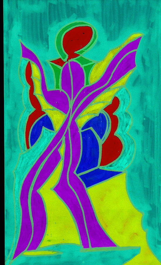 Purple Angel  Painting by Ken Gidge