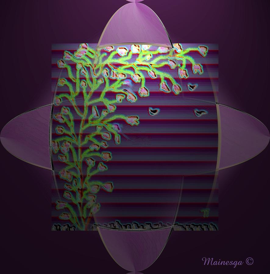 Digital Paint Digital Art - Purple Blind by Ines Garay-Colomba