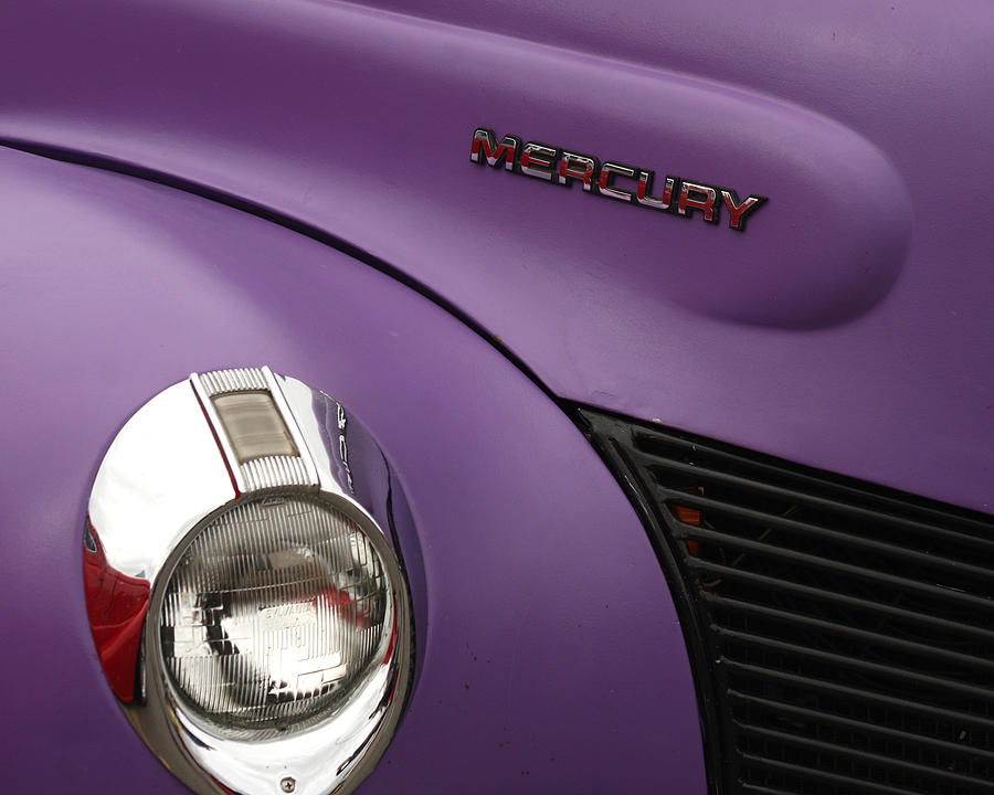 Car Photograph - Purple Bomb by Art Block Collections