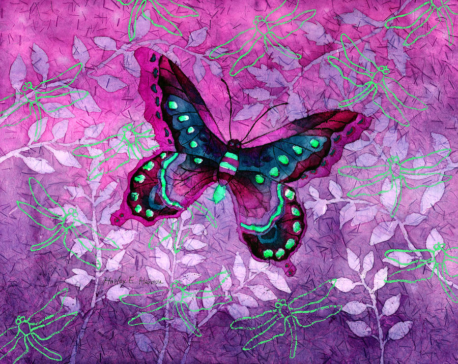 Purple Butterfly Painting