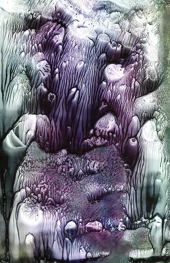 Purple Painting - Purple Coral2 by Mickey Krause