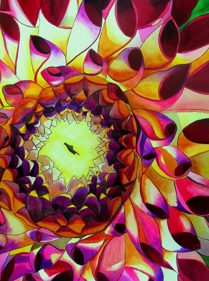 Dahlia Painting - Purple Dahlia by Sacha Grossel