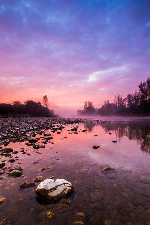 Landscapes Photograph - Purple Dawn by Davorin Mance