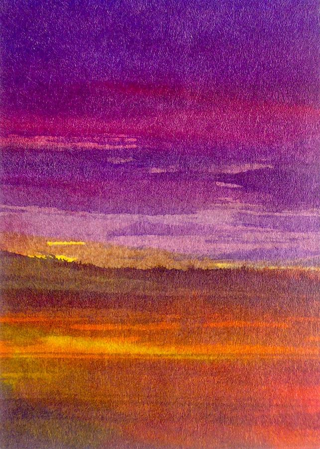 Purple Day Painting by Paul Pulszartti