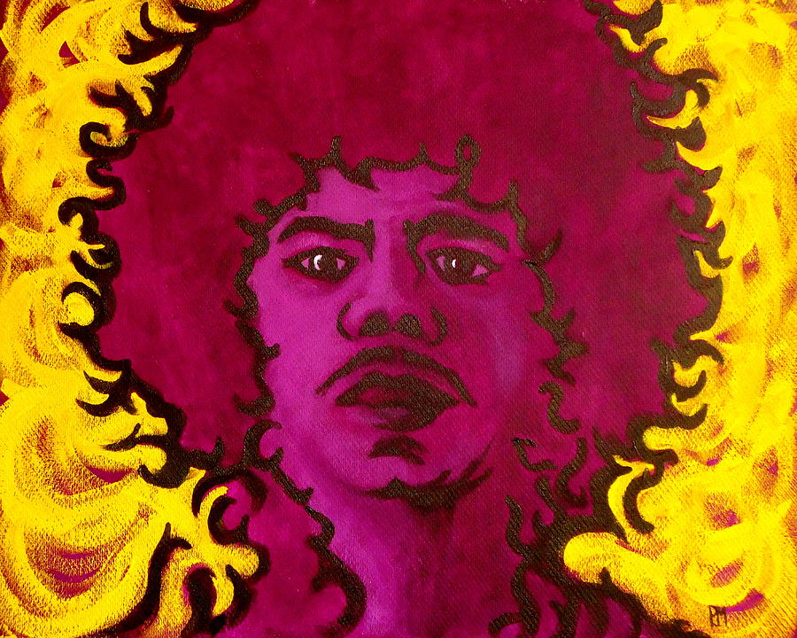 Jimi Hendrix Painting - Purple Daze by Pete Maier