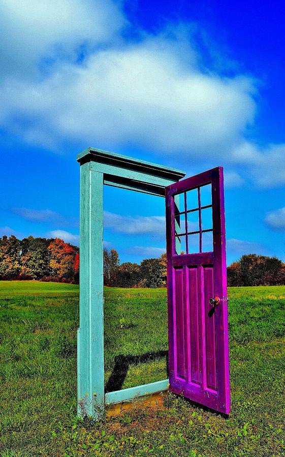 Door Photograph - Purple Door - Alternate Reality - Canada by Jeremy Hall