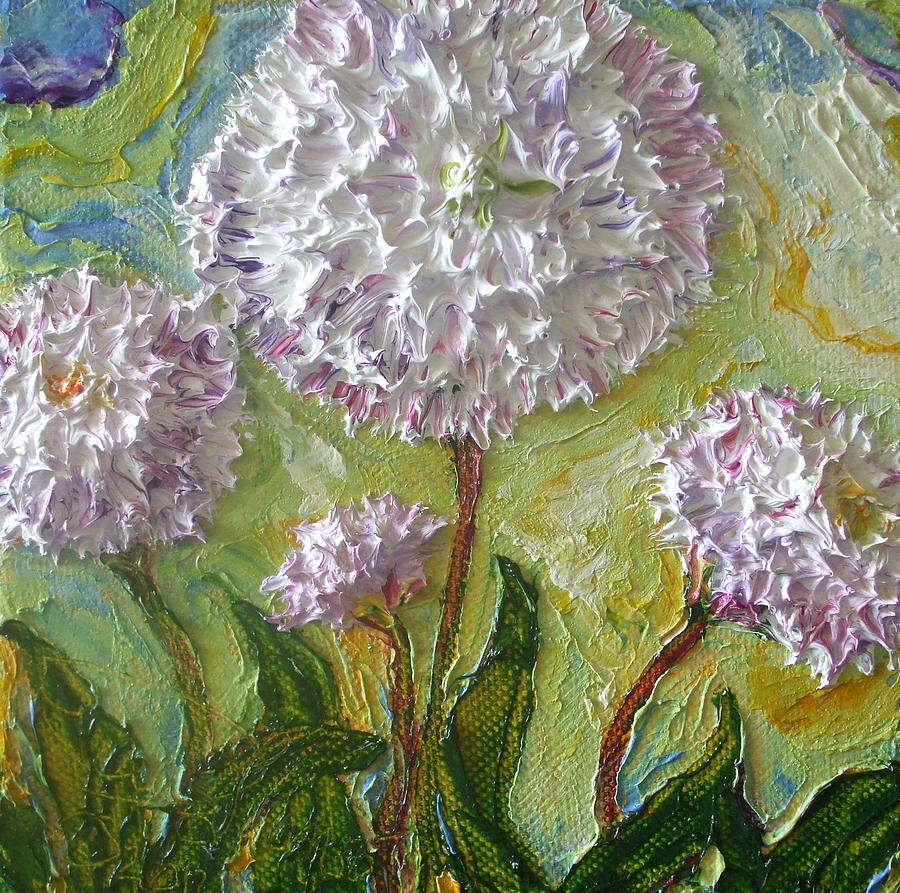 English Daisy Painting Painting - Purple English Daisy by Paris Wyatt Llanso