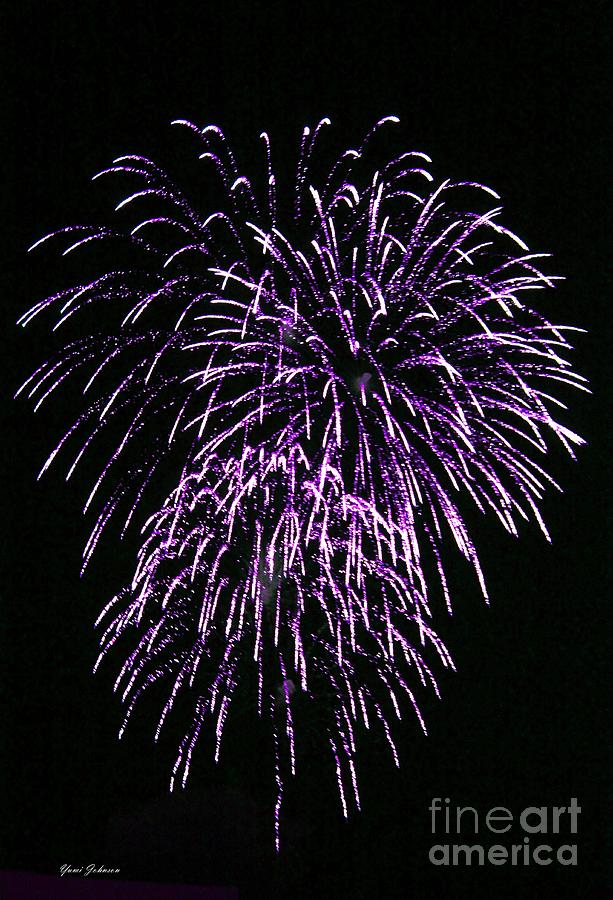Fireworks Photograph - Purple Fire  by Yumi Johnson