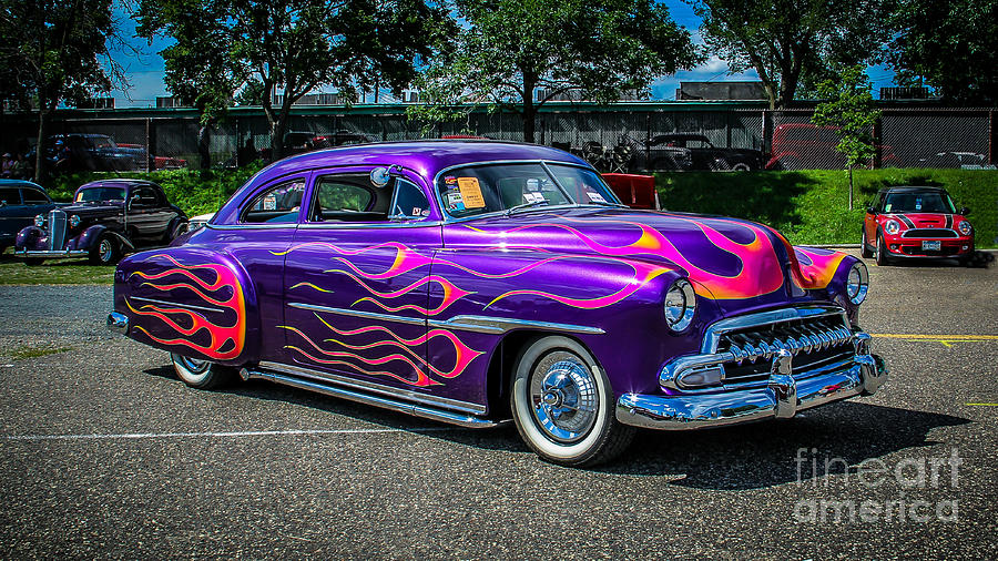 Car Photograph - Purple Flame by Perry Webster