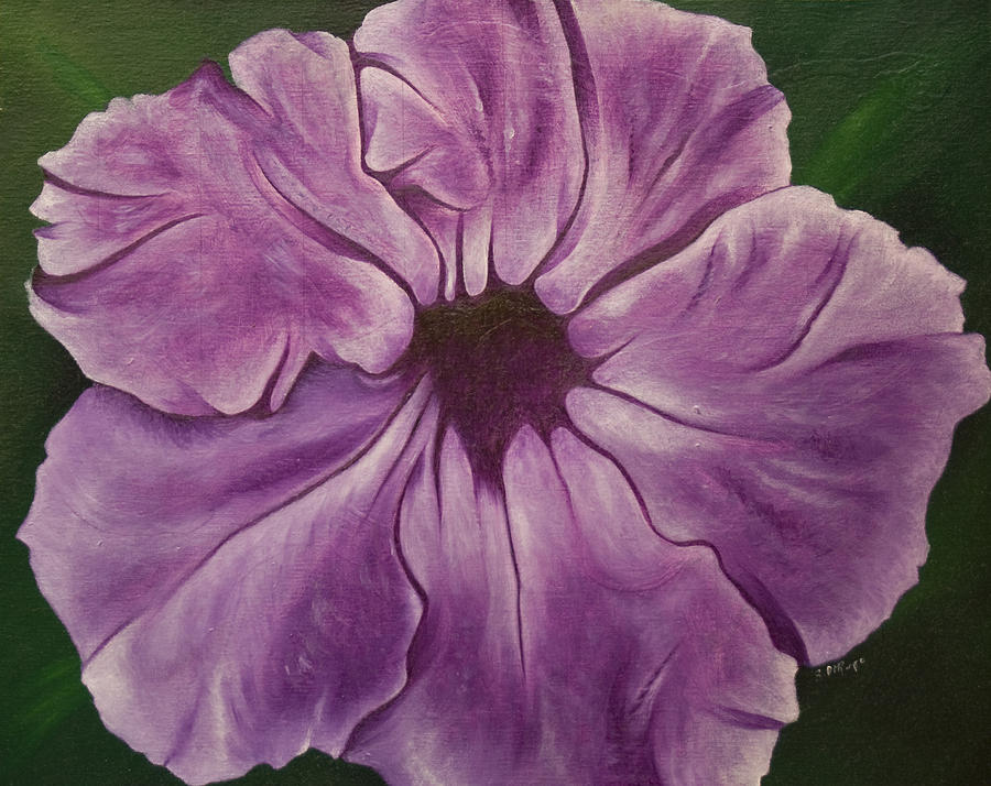 Still-life Painting - Purple Floral #1 by Stephen J DiRienzo