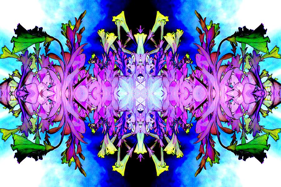 Purple Photograph - Purple Flower Abstract by Marianne Dow