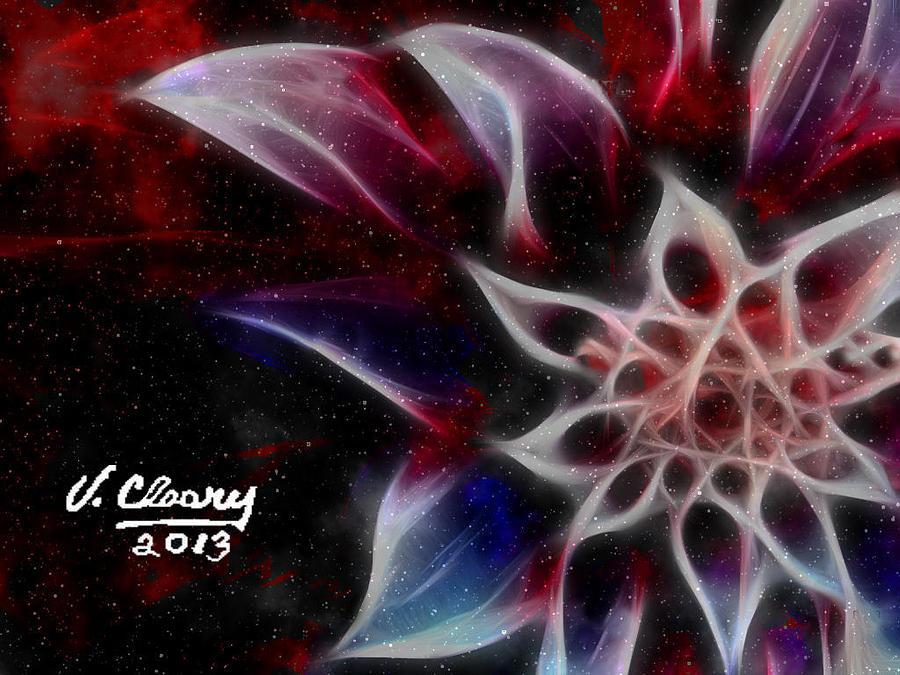 Purple Flower Digital Art by Virginia Cleary
