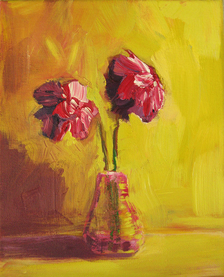 Flowers Painting - Purple Flowers by Patricia Awapara