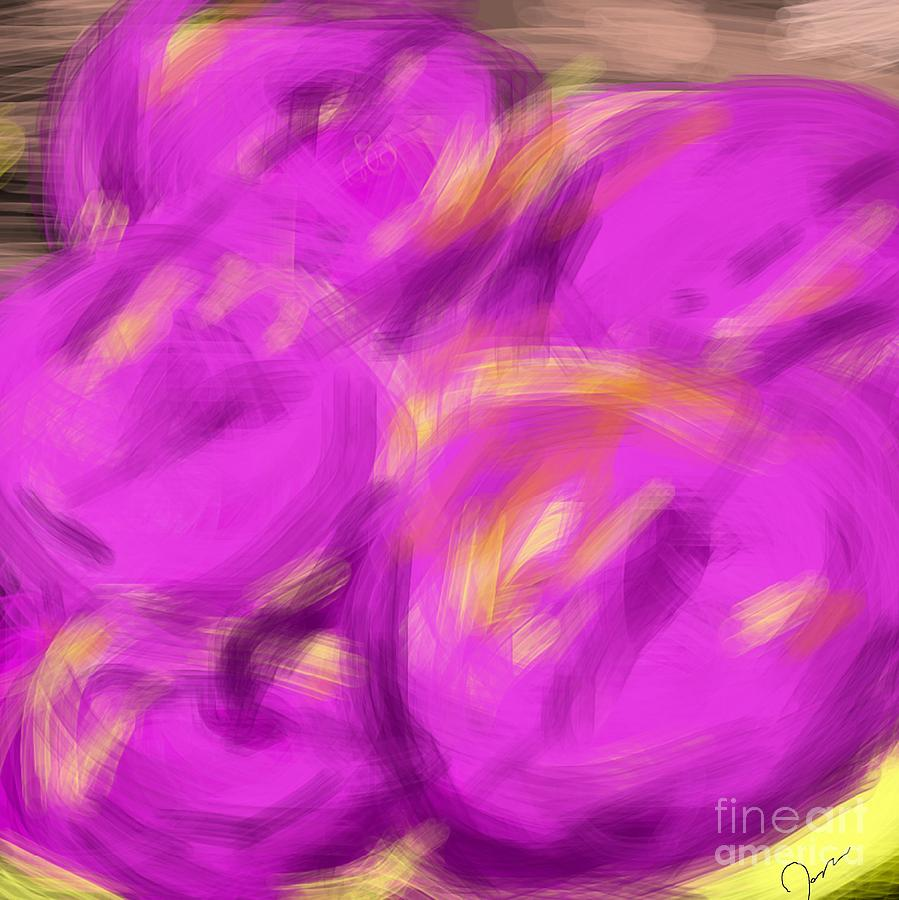 Art By James Eye Digital Art - Purple Fruit by James Eye