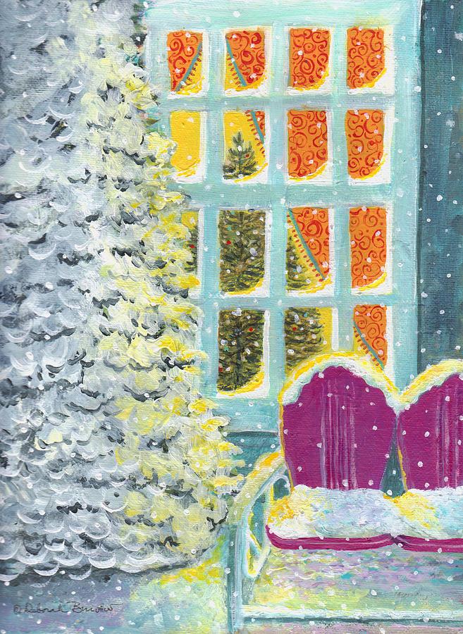 Snow Painting - Purple Glider by Deborah Burow