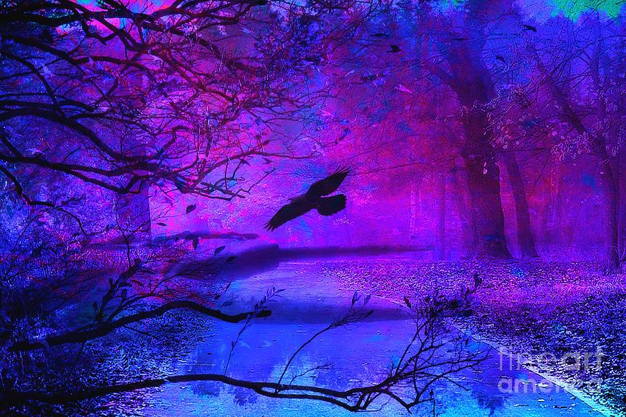 Purple Gothic Haunting Nature Surreal Fantasy Gothic