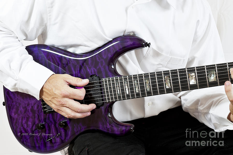 Purple Guitar by Richard J Thompson