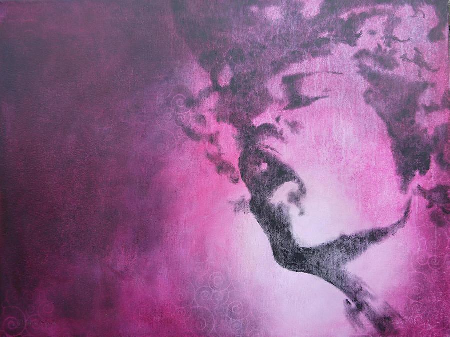 Musician Painting - Purple Haze by Bitten Kari