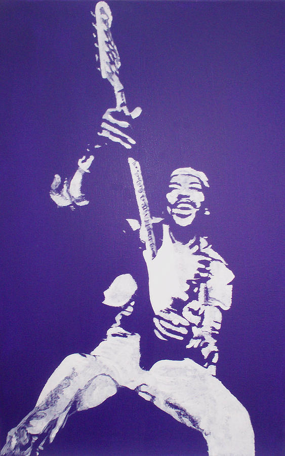 Purple Haze Painting - Purple Haze by Gary Hogben