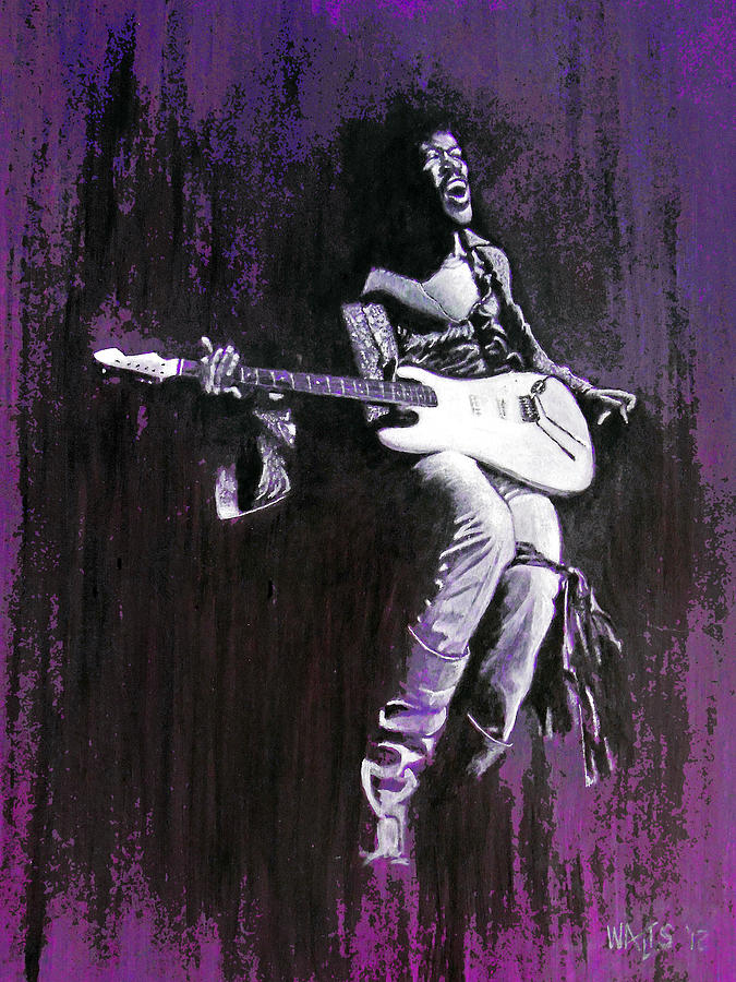 Hendrix Painting - Purple Haze - Hendrix by William Walts